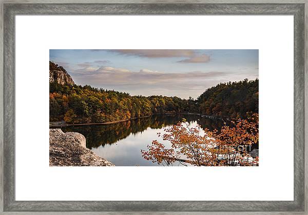Mohonk Mountain House Lake Framed Print
