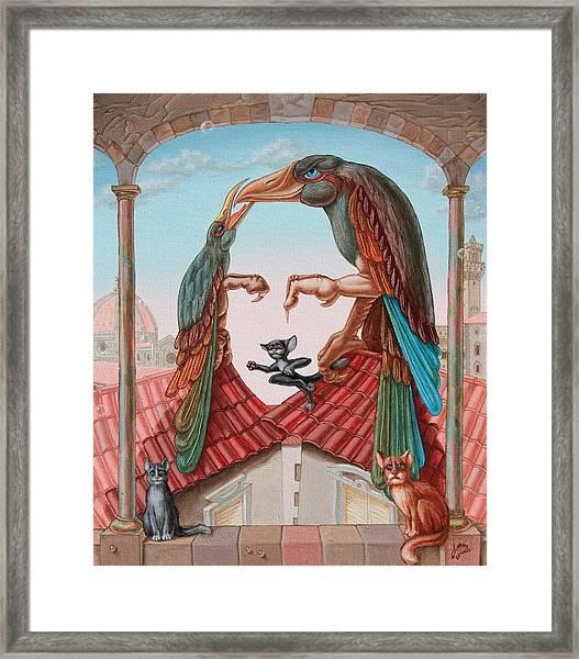 Mona Lisa. Air Framed Print
