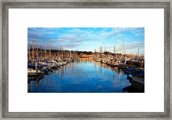 Monterey Marina, California Framed Print