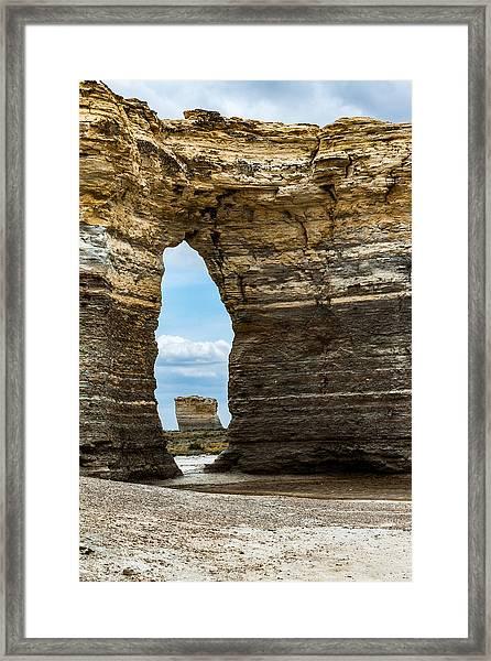 Monument Rocks Framed Print