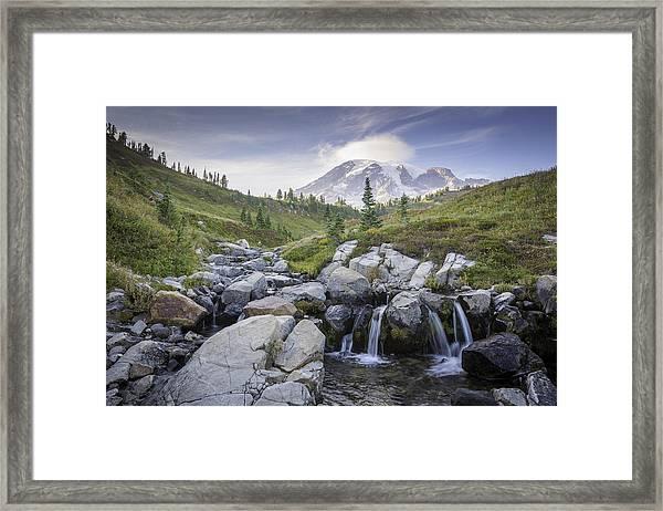 Mt. Rainier Framed Print by Michael Donahue