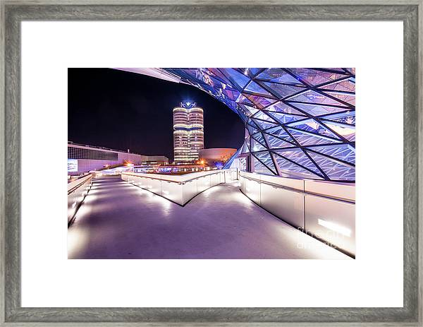 Munich - Bmw Modern And Futuristic Framed Print