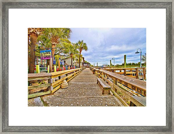 Murrells Inlet Marshwalk Framed Print