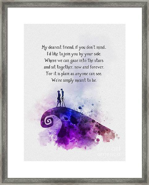 My Dearest Friend Framed Print