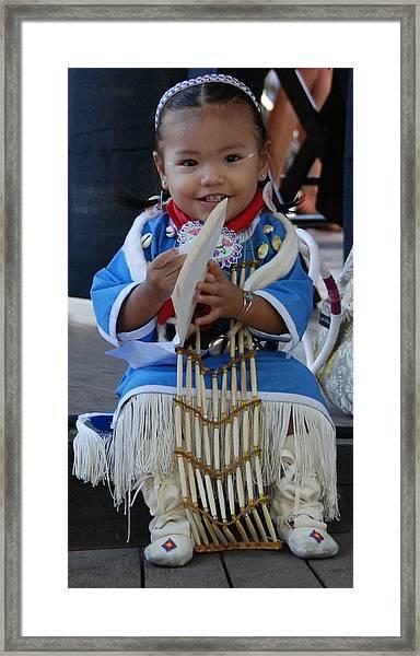 Native American Baby Girl Framed Print