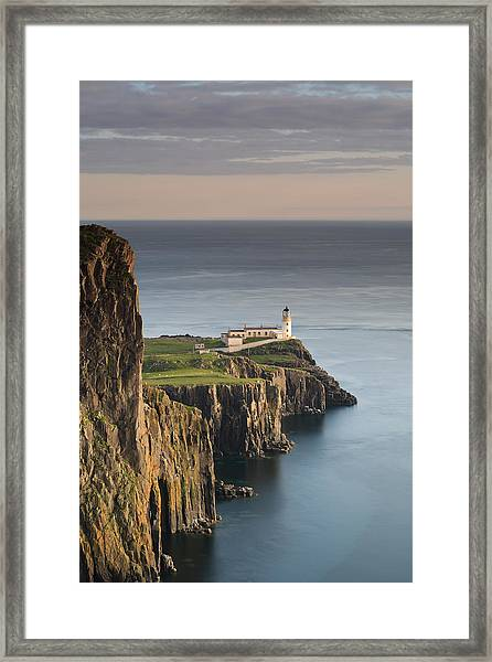 Neist Point At Sunset Framed Print