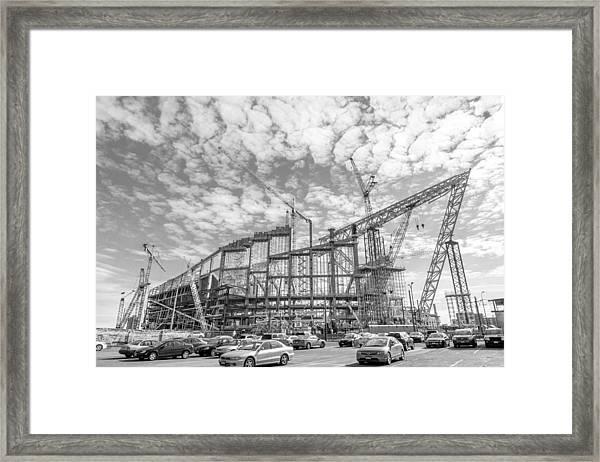 U S Bank Stadium Under Construction Framed Print