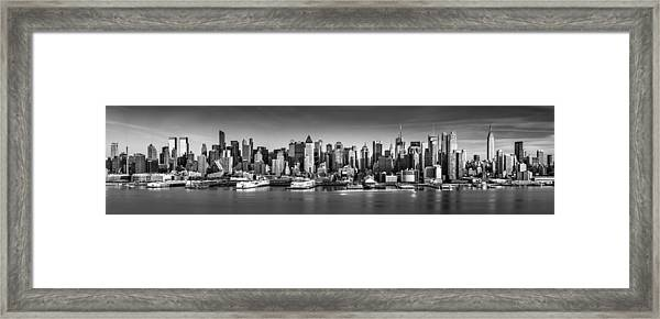 New York City Panorama Framed Print