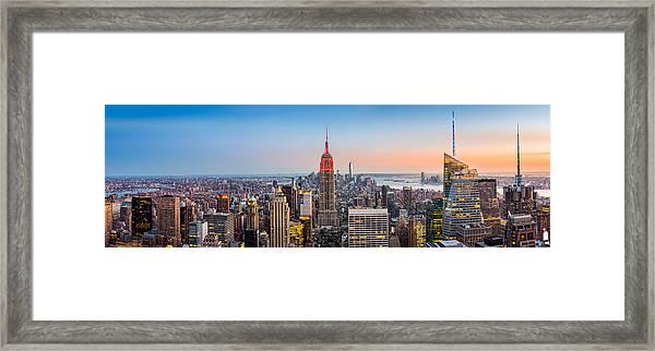 New York Skyline Panorama Framed Print