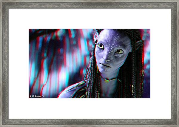 Neytiri - Use Red And Cyan 3d Glasses Framed Print