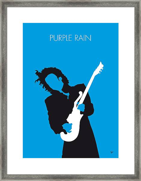 No009 My Prince Minimal Music Poster Framed Print