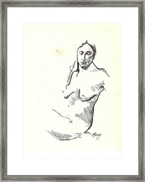 Nude Three Framed Print