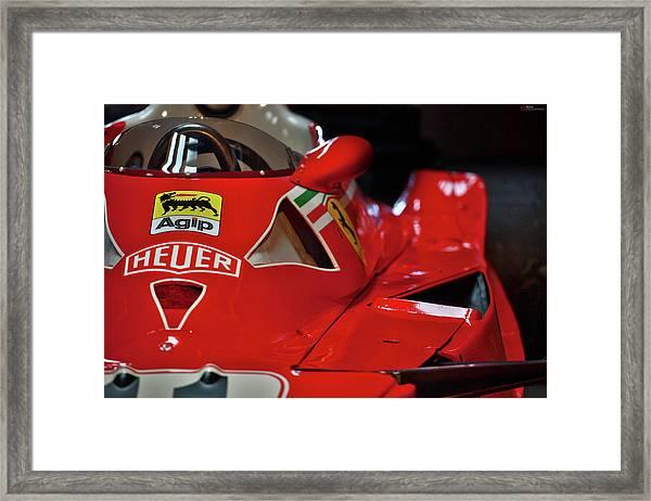 Number 11 By Niki Lauda #print Framed Print