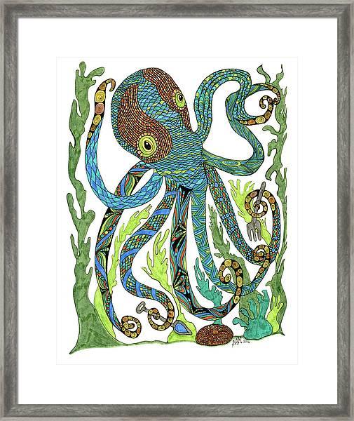 Octopus' Garden Framed Print