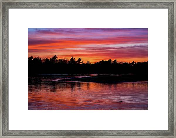 Odiorne Point Sunset Framed Print