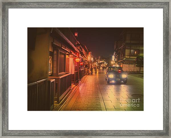 Old Kyoto, Gion Japan Framed Print