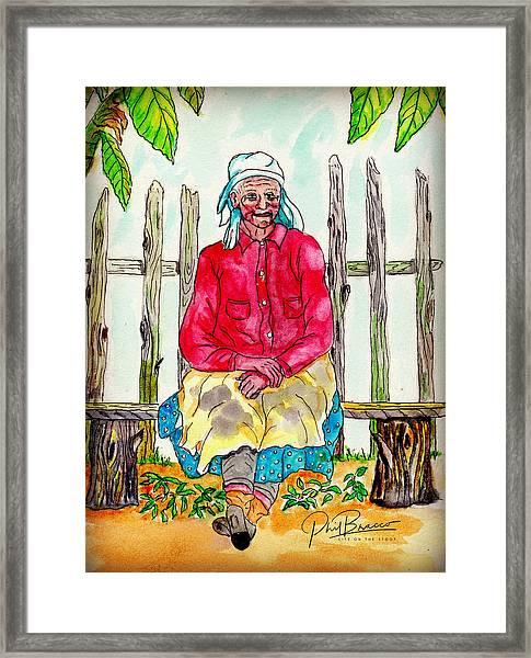 Old Migrant Worker, Resting, Arcadia, Florida 1975 Framed Print