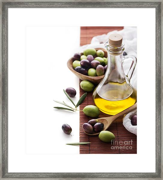 Olive Oil Framed Print