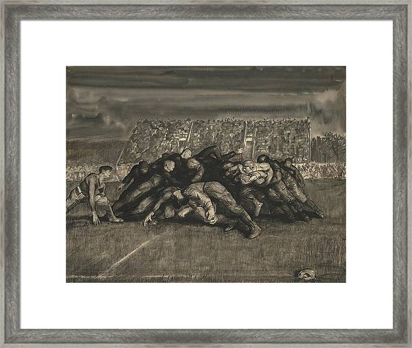 One Long Arm Spined Animal With Six Legs Framed Print