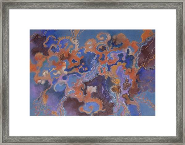 Orange Movement Framed Print