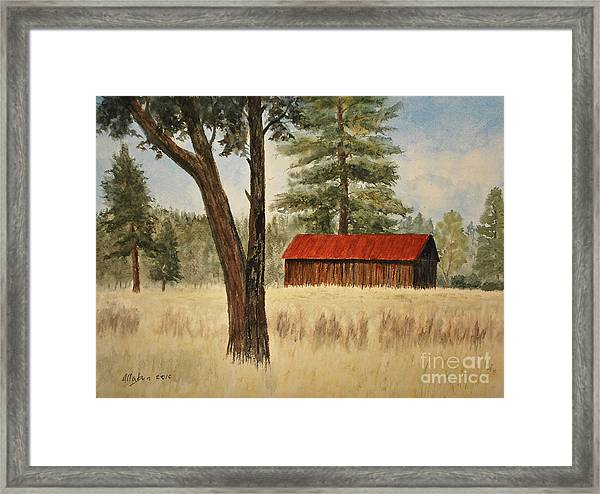 Oregon Barn Framed Print
