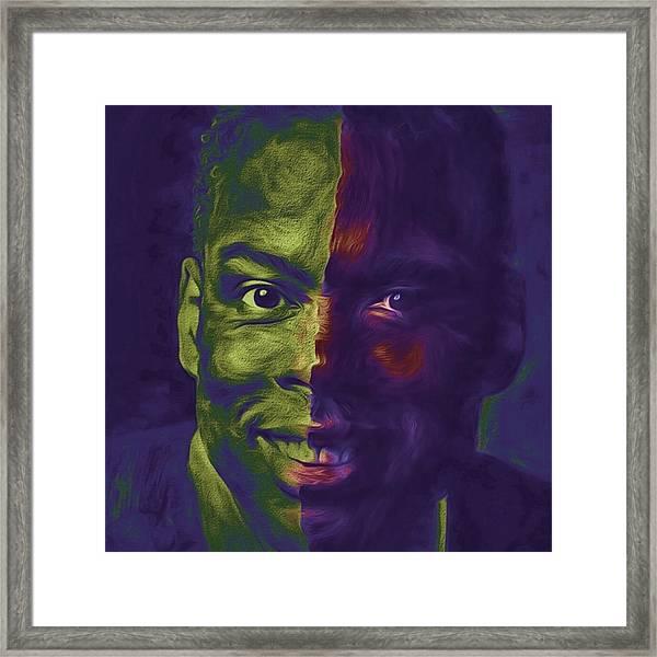 #oscars @chrisrock @jerryseinfeld Framed Print