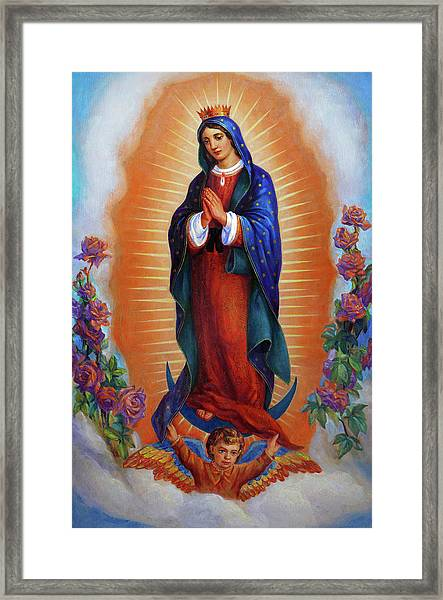 Our Lady Of Guadalupe - Virgen De Guadalupe Framed Print
