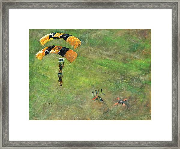 Out Of The Gold Framed Print