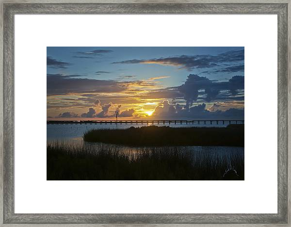 Framed Print featuring the photograph Outer Banks Sunset by Williams-Cairns Photography LLC