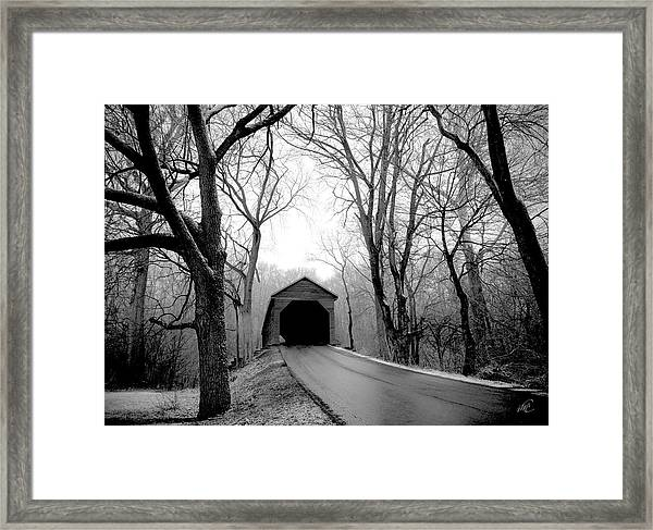 Framed Print featuring the photograph Outside Meems Bottom Bridge by Williams-Cairns Photography LLC