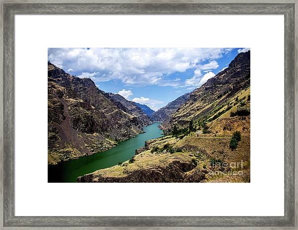 Oxbow Dam Tailwater Idaho Journey Landscape Photography By Kaylyn Franks  Framed Print