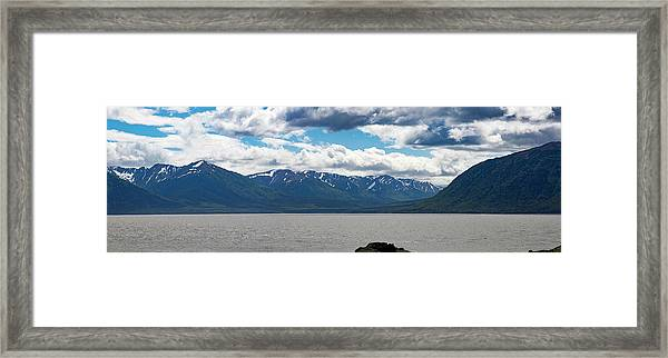 Panorama Of Beluga Point Framed Print