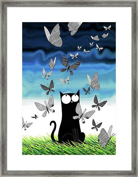 Paper Butterflies  Framed Print