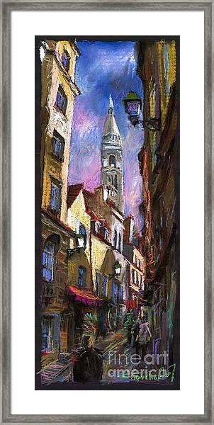 Paris Montmartre  Framed Print