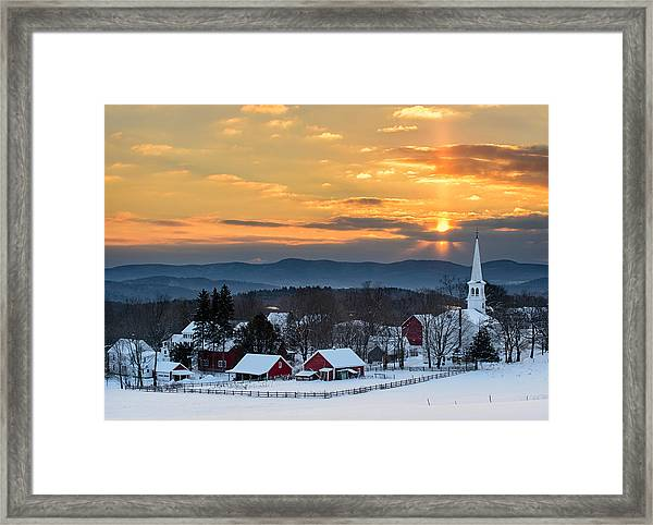 Peace Over Peacham Framed Print
