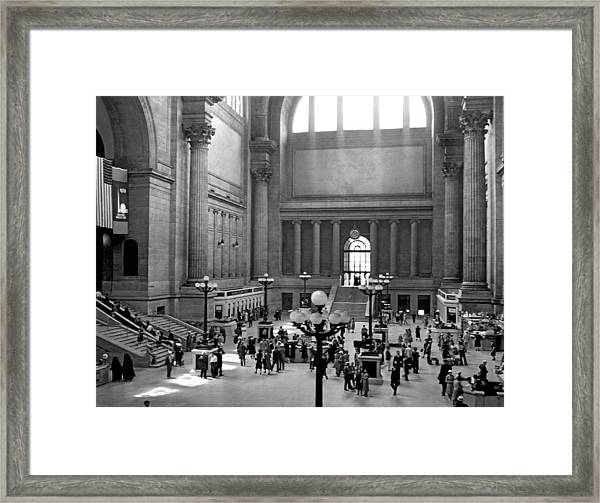 Pennsylvania Station Interior Framed Print