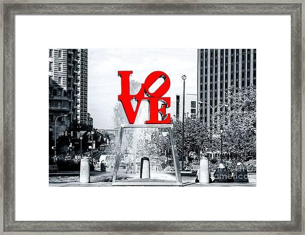 Philadelphia Love 2005 Fusion Framed Print