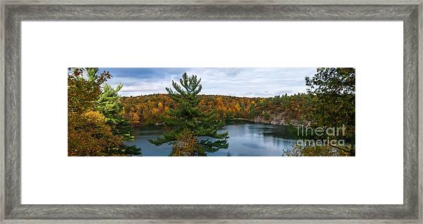 Pink Lake Gatineau Park Framed Print