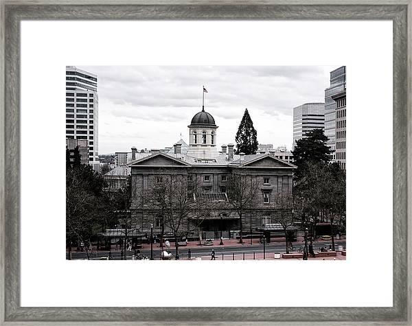 Pioneer Courthouse - Portland Oregon Framed Print