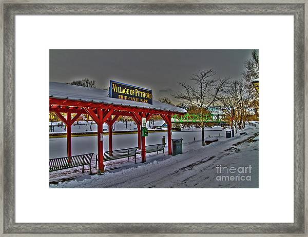 Pittsford Canal Park Framed Print