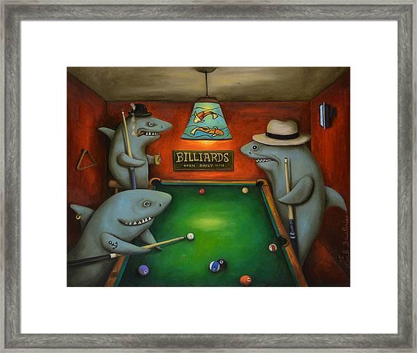 Pool Sharks Framed Print