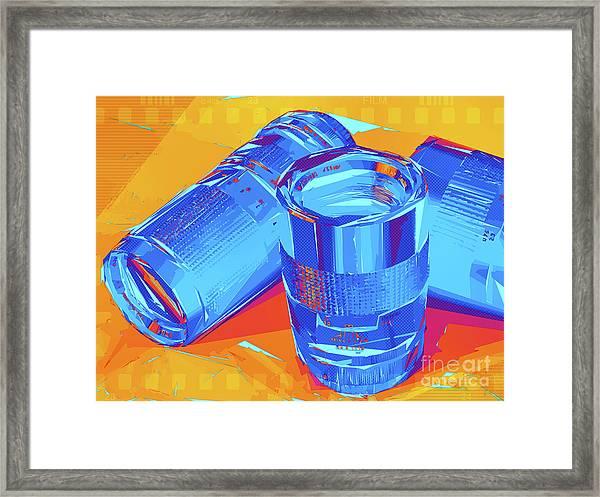 Pop Art Camera Lenses Framed Print