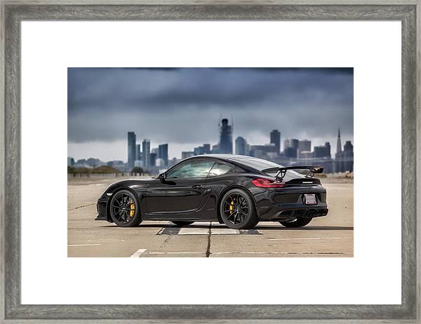 #porsche #cayman #gt4 Framed Print