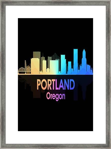 Portland Or 5 Vertical Framed Print