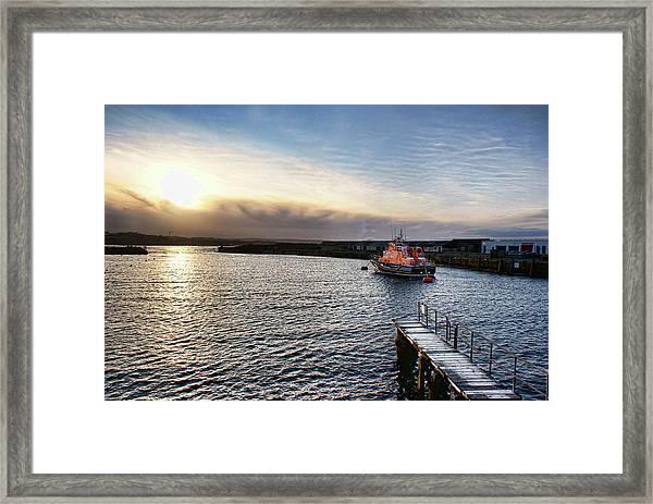 Portrush Rnli Lifeboat Framed Print