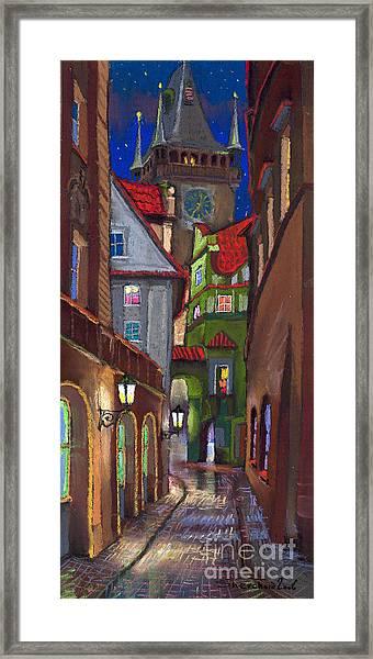 Prague Old Street  Framed Print