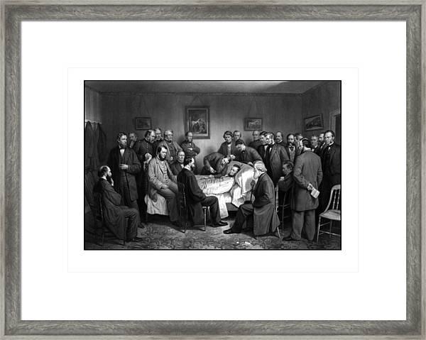 President Lincoln's Deathbed Framed Print