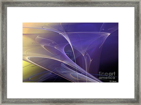 Purple Haze Framed Print by Sandra Bauser Digital Art