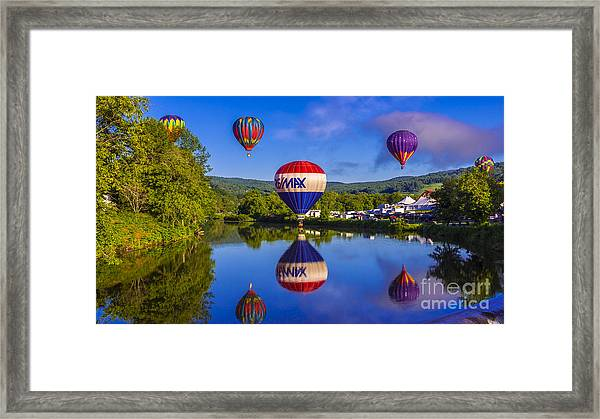 Quechee Balloon Festival. Framed Print