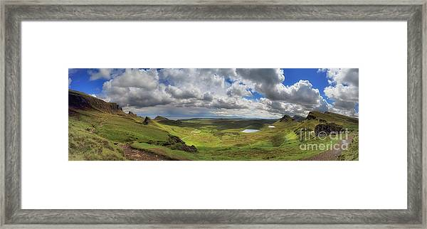 Quiraing And Trotternish - Panorama Framed Print